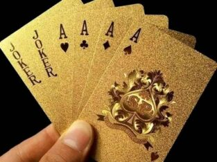 Luxury Gold Foil Poker water proof Playing Cards